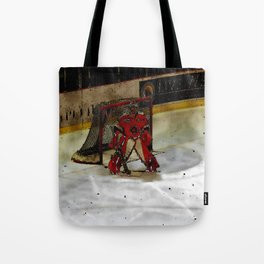 Life Goals - Ice Hockey Goalie Motivational Art Tote Bag