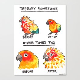 Bird no. 490: Other Times Tho Canvas Print