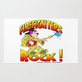 Firefighters Rock Merchandise Rug