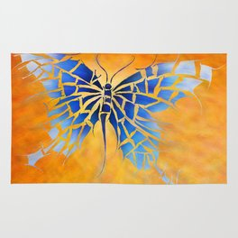 Tropenillo V1 - the blue butterfly Rug