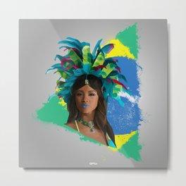 Rio 2016 Brazilian Beauty Metal Print