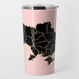 Ukraine map Travel Mug