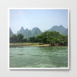 The Sheep & The Mountains Metal Print