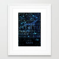 nasa Framed Art Prints featuring NASA Solar System Missions by astrographix