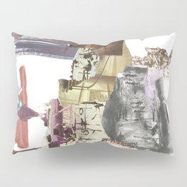 Broken Paper Collage Pillow Sham
