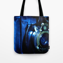 Capturing Yesteryear a vintage Kodak folding camera photograph Tote Bag
