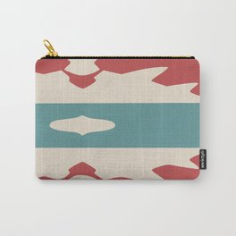 Faded Red Cream and Sage Aztec Carry-All Pouch