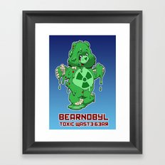 Bearnobyl Framed Art Print