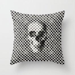 Wicker Skull Throw Pillow