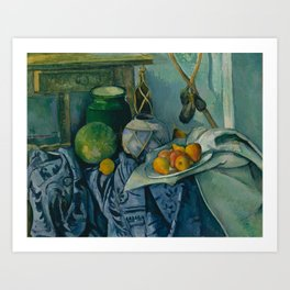 "Paul Cezanne ""Still Life with a Ginger Jar and Eggplants"" Art Print"