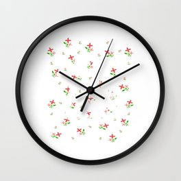 "Colorful and flowery tee design with text ""Deny The Lies"" Stay brave and concealed with creativeness Wall Clock"