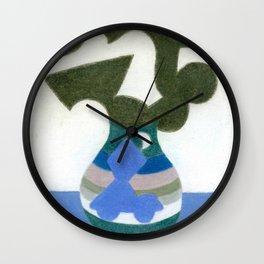 Moonlight Mystery Vase Wall Clock
