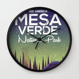 Mesa Verde National Park Camping Wall Clock
