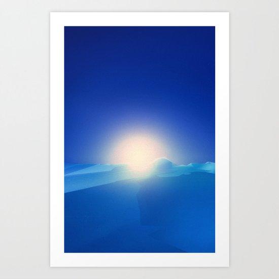 Ice Cold Blue Art Print