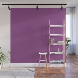 Plum Purple Solid Color Wall Mural