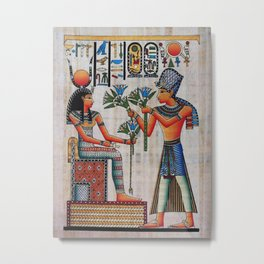 Isis On Papyrus Metal Print