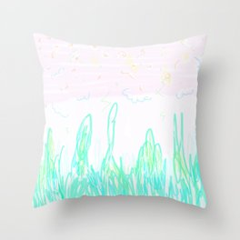 purple afternoon Throw Pillow
