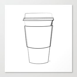 """ Kitchen Collection "" - Coffee Take Out Cup With Sleeve Canvas Print"