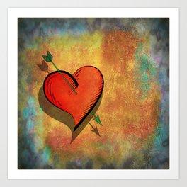 Cupids arrow strikes Art Print