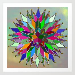 Mandala #106, Star Burst Art Print