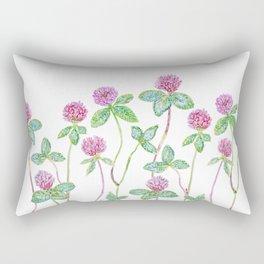 Red Clover - Botanical Rectangular Pillow
