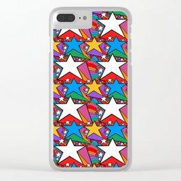 Wonderful Starburst Clear iPhone Case