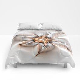 Elegance of a Flower, modern Fractal Art Comforters