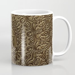 Decorative Ek Onkar / Ik Onkar  embossed on gold Coffee Mug
