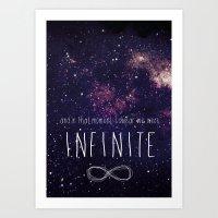 infinite Art Prints featuring Infinite by Enyalie