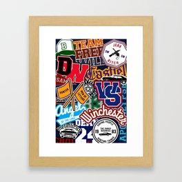 TEAM SPN Framed Art Print