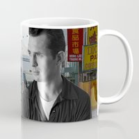 kerouac Mugs featuring Jack Kerouac San Francisco  by All Surfaces Design