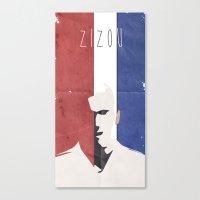 zidane Canvas Prints featuring Zidane Minimal Portrait by Stefanoreves