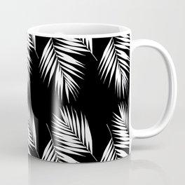 Palm Leaves Pattern #9 #White #Black #decor #art #society6 Coffee Mug