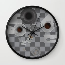 Alternate 'Cofee & Cigarettes' Movie Poster Art Wall Clock