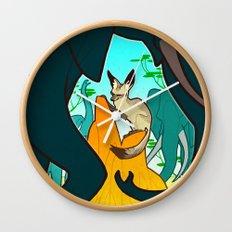 Bat-Eared Fox Wall Clock