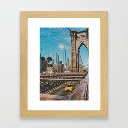 The Bridge in New York City (Color) Framed Art Print
