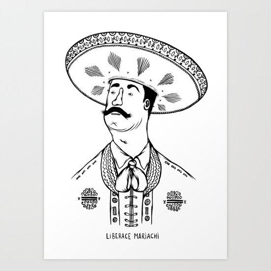 Liberace Mariachi Art Print