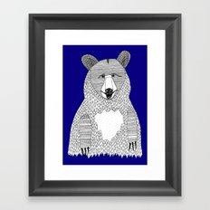 Blue Bear Framed Art Print