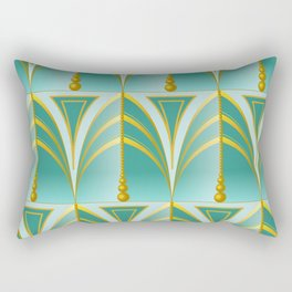 Art Deco - dark mint Rectangular Pillow