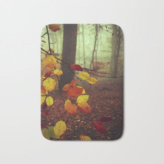 Leaves in Autumn Bath Mat