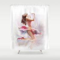 dancing Shower Curtains featuring dancing by tatiana-teni