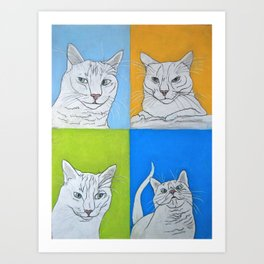 All the Faces of Moo-Moo Art Print