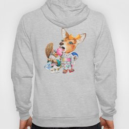 A child deer and squirrel at the summer festival Hoody