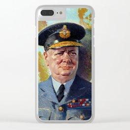 Winston Churchill In Uniform Clear iPhone Case
