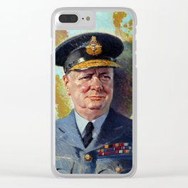 Winston Churchill In Uniform Clear iPhone Case