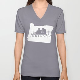 Portland, Oregon Unisex V-Neck