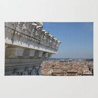 rome Area & Throw Rugs featuring Rome by AntWoman