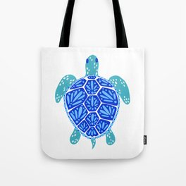 Sea Turtle – Blue Palette Tote Bag