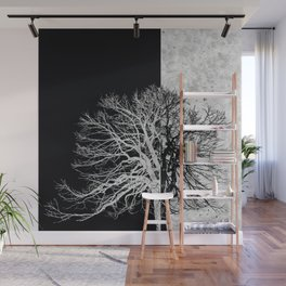 Natural Outlines - Tree Black & Concrete #295 Wall Mural