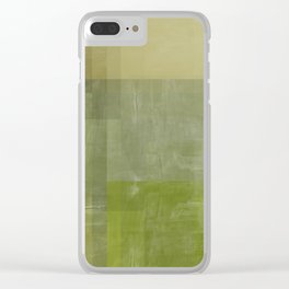 Green Abstract | No. 3 Clear iPhone Case